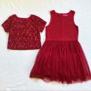 Derhy Kids Paris 2 piece dress set NWT size 8 10